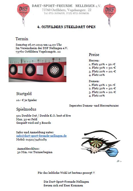 4. Ostfildern Steeldart Open
