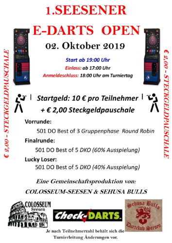 SEESENER E-DARTS OPEN
